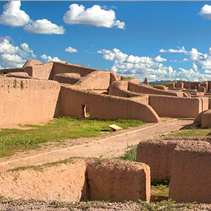 Ancient archaeological ruins in Paquime, Mexico.