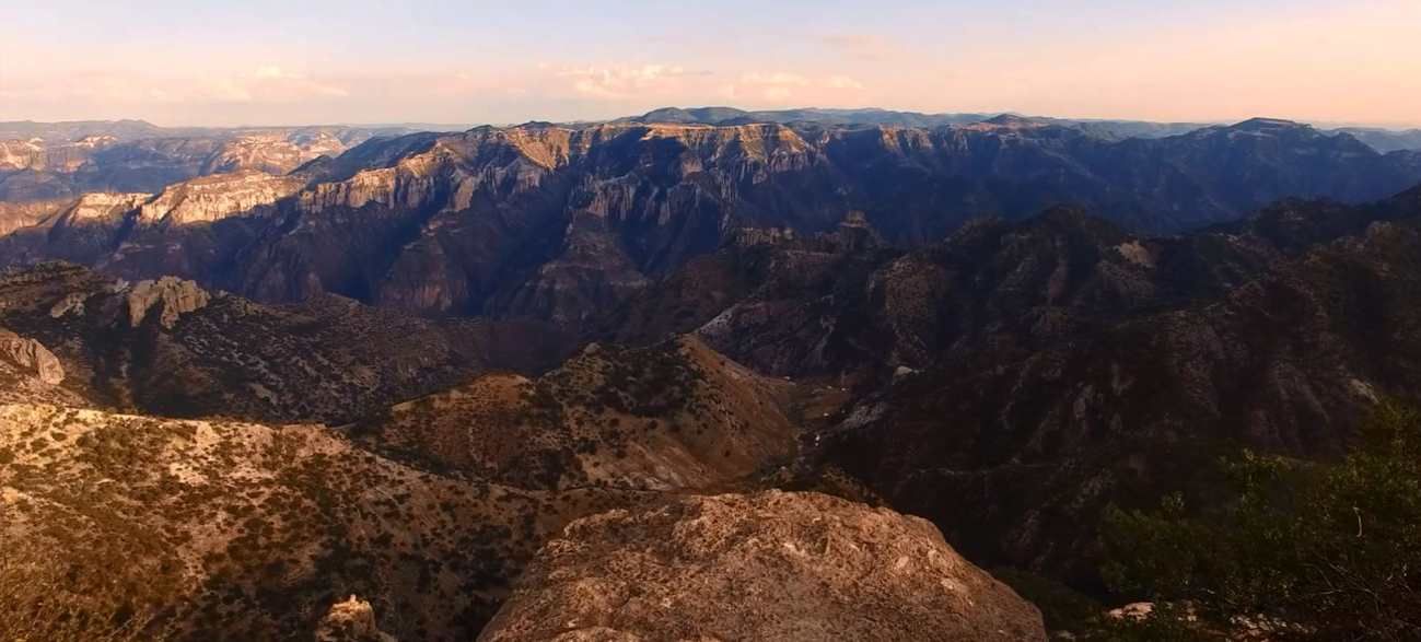 An aerial view of Copper Canyon in Mexico