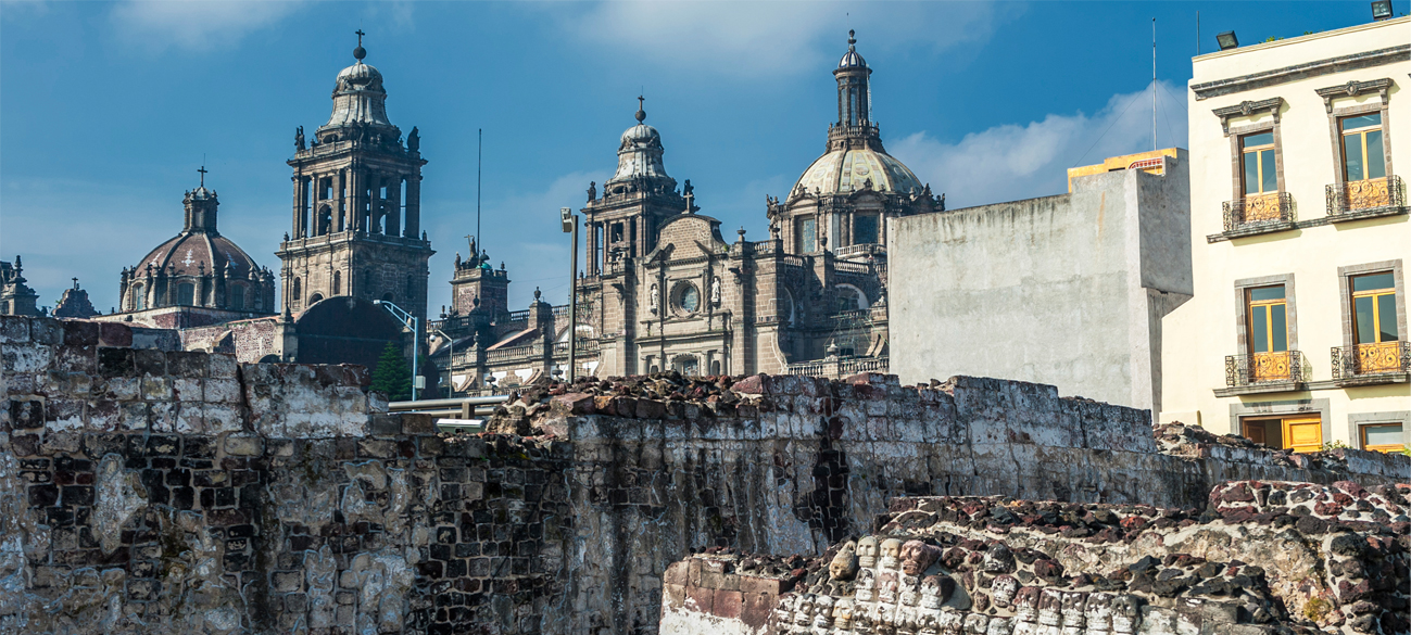 mexico city templo mayor during the day
