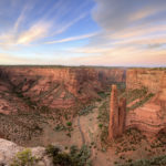 Spider rock at sunset, Canyon de Chelly national monument