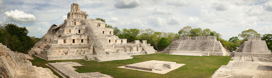 Famous Maya archaeological site of Edzná
