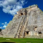 UNESCO World Heritage Site of Uxmal has pyramids surrounded by jungle