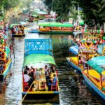 Gandala rides in the city of Xochimilco